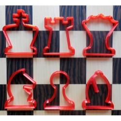 Uitsteekvormpjes voor koekjes, set van 6
