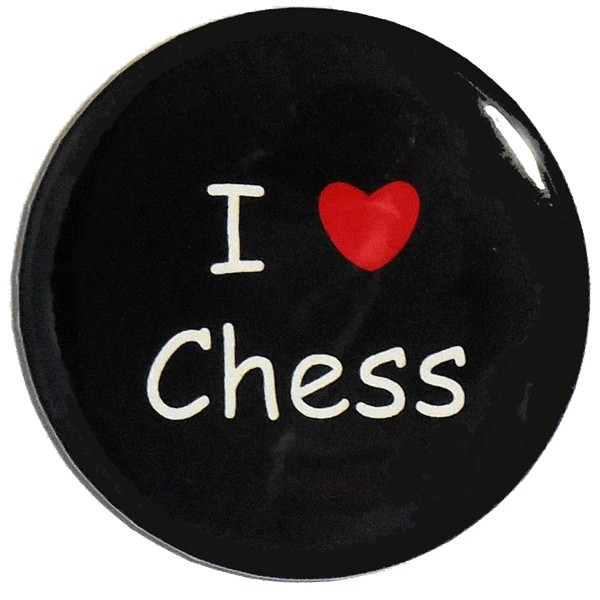 "Button ""I love chess"""