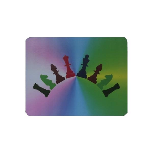 Muismat schaakstukken, regenboog