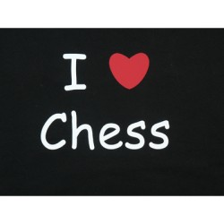 "T-shirt ""I love chess"""