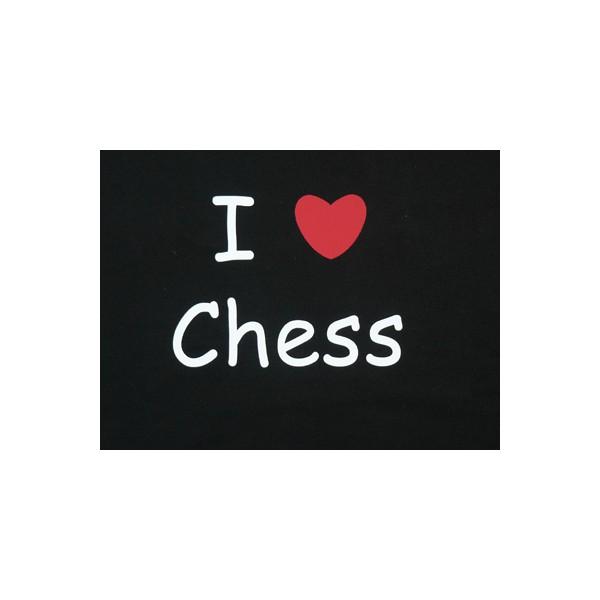 "T-shirt ""I love chess"""