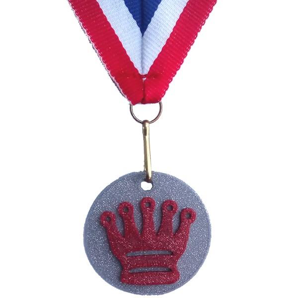 Medaille Dame 3D geprint