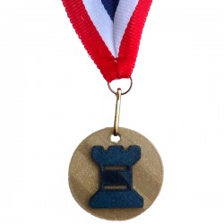 Medaille 3D geprint in veel kleuren Toren