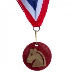 Medaille 3D geprint in veel kleuren Paard