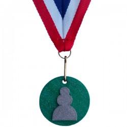 Medaille 3D geprint in veel kleuren Pion