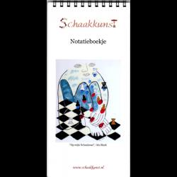 """Notatieboekje """"Op mijn schaakmat"""", Iris Slock"""