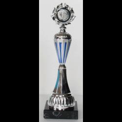 Beker zilver/blauw 26,5 cm